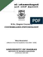 MSc CounsellingPsychology