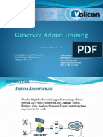 Observer Admin Training