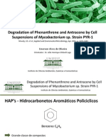 Degradation of Phenanthrene and Antracene by Cell Suspensions of Mycobacterium Sp. Strain PYR-1