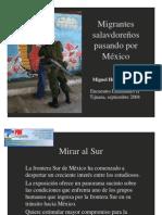 Migrantes salvadoreños en México