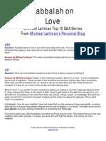 Michael Laitman Kabbalah on Love