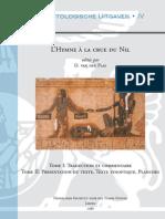 Dirk Van der Plas, L'Hymne à la crue du Nil, Volume 1, Nederlands Instituut voor het Nabije Oosten, 1986  Volumes 1 and 2