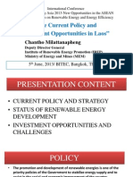 The Current Policy and Investment Oppertunity in LAOs