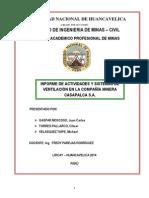 Informe de Casapalca-Ventilacion