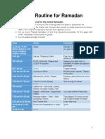 Ramadan Day Planning Template Sample