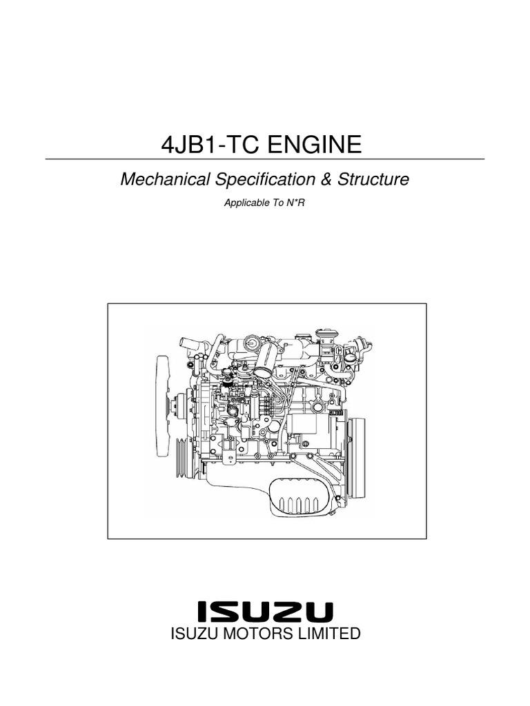 isuzu nkr 4jb1 piston cylinder engine rh es scribd com
