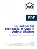 Guidelines for Standards of Care in Animal Shelters
