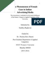 The Phenomenon of Female Gaze in Indian Advertising/Media
