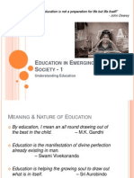 Education in Emerging Indian Society 1
