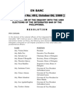 In the Matter of the Inquiry Into the 1989  Elections of the IBP