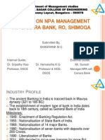 NPA management, Canara Bank