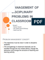 management of disciplinary classroom