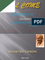 Mahatma Gandhi Power Point