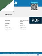 EASA TCDS E.111 Rolls Royce Plc Trent XWB Series Engines 01 07022013