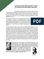 Los Dres. Edward M. East (1879-1938) y Donald F. Jones (1890-1963), Los Inventores Del Maíz Híbrido Comercial.