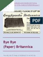 Bye Bye (Paper) Britannica