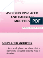 Avoiding Misplaced and Dangling Modifiers