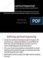 What is Spiritual Bypassing