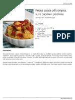 Salata Krompir Paprika Praziluk