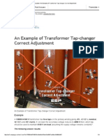 Update __ an Example of Transformer Tap-changer Correct Adjustment