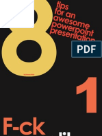 8 Tips for Powerpoint Presentation