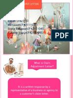 claim adjustment letter ppt