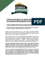 COMUNICADO DE IMPRENSA | CARLOS SOUSA / MITSUBISHI PETROBRAS RALLYTEAM - ANÚNCIO