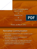Nonverbal Communication Gestures