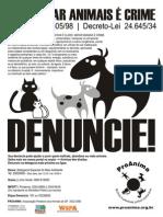 Cartaz Envenenar Animais e Crime