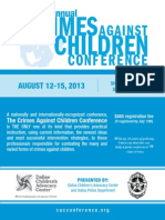 2013 Crimes Against Children Conference Brochure