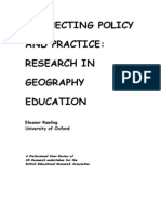 Connecting Policy & Practice - Research in Geography Education