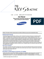 Samsung Galaxy S5 Active Manual