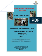 Plan Operativo Instituciona.2011 - Defensa Civil