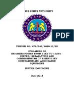 Standard Tender Document