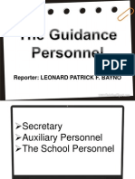 The Guidance Personnel