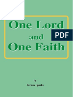 One Lord and One Faith