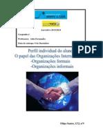O Papel Das Organizações Internacionais