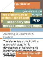 GC 602 - The Elementary and Secondary School Guidance Program