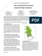 Vulnerability of Flood Hazard in Selected Ayeyarwady Delta Region, Myanmar