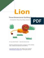 _Lion_3d_Quilling_Project