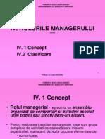 Curs 4 Rolurile Managerului