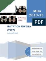 Imitation Jewellery ITOD Project