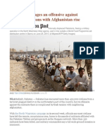 As Pakistan Wages an Offensive Against Militants, Tensions With Afghanistan Rise