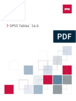 SPSS Tables 16.0