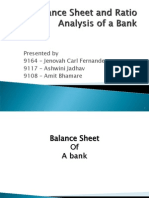 Balance Sheet and Ratio Analysis of a Bank