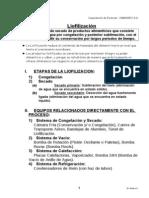 Liofilización Resumen