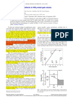 Fermi Level Pinning by Defects in HfO2-Metal Gate Stacks