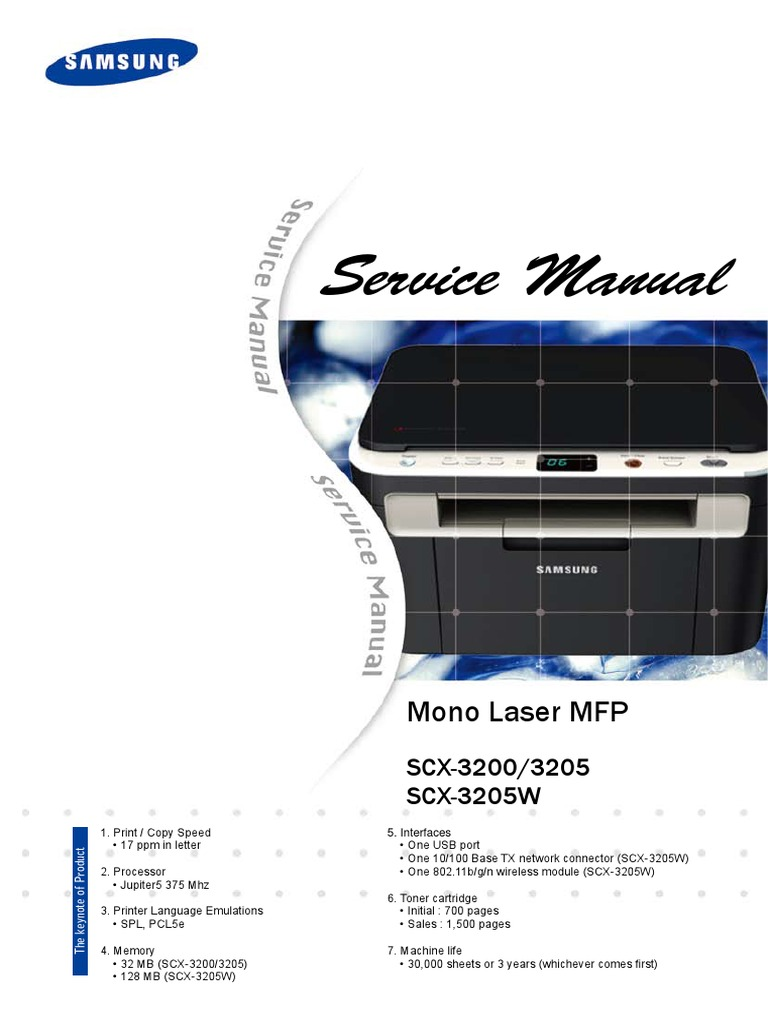 Service Manual Scx 3200 Series Electrostatic Discharge Physics