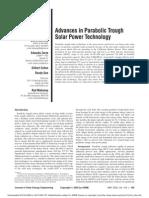 Advances in Solar Parabolic Trough