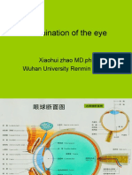 examination of eye